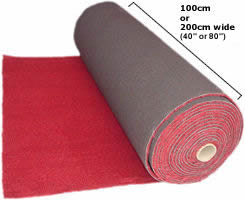 TCN/25 automotive carpet, available in black, red, brown, beige, navy & grey