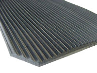 Ribbed Rubber Matting, 4.5mm Fine Rib