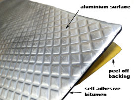 Bitumen Sound Deadening Pads - Automotive & Industrial
