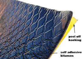 sound dampener pads - self adhesive mouldable bitumen automotive