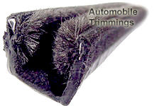 BE/9/2 automotive window channel (plush lining / metal inserts)